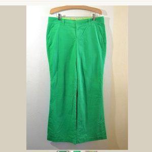 Lily Pulitzer Green Corduroy Wide Leg Pants Sz  8